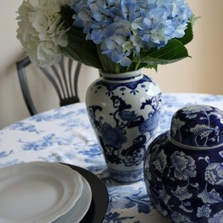 Blue and White: A Tablescape Standby